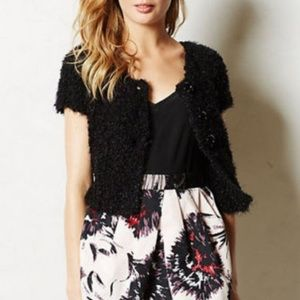 Anthropologie Knitted & knotted cropped cardi XS